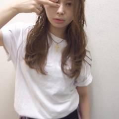 ストレート 三つ編み ヘアアレンジ ウェーブ ヘアスタイルや髪型の写真・画像