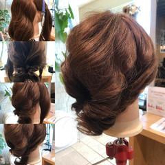セミロング パーティ 簡単ヘアアレンジ ショート ヘアスタイルや髪型の写真・画像
