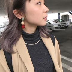 ストリート ミディアム 色気 前髪あり ヘアスタイルや髪型の写真・画像