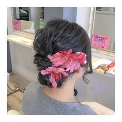 和装 結婚式 ミディアム 黒髪 ヘアスタイルや髪型の写真・画像