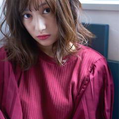 大人かわいい かわいい イルミナカラー ミディアム ヘアスタイルや髪型の写真・画像