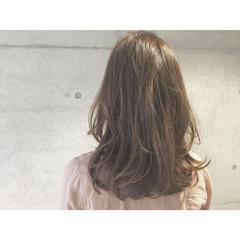 ナチュラル 外国人風 セミロング アッシュ ヘアスタイルや髪型の写真・画像