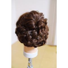 ショート 暗髪 セミロング 簡単ヘアアレンジ ヘアスタイルや髪型の写真・画像