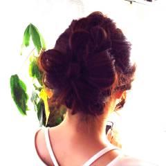 編み込み ショート 簡単ヘアアレンジ ロング ヘアスタイルや髪型の写真・画像