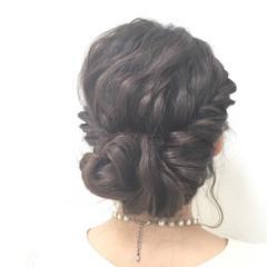 編み込み フェミニン モテ髪 愛され ヘアスタイルや髪型の写真・画像