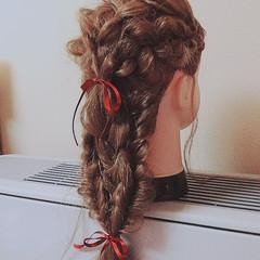 黒髪 フェミニン ショート ハーフアップ ヘアスタイルや髪型の写真・画像