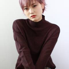 外国人風 ウェットヘア ショート ストリート ヘアスタイルや髪型の写真・画像