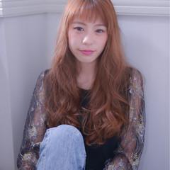 ストリート ロング 外国人風 ブラウン ヘアスタイルや髪型の写真・画像