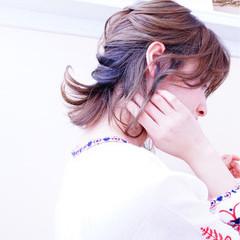 デート 斜め前髪 ガーリー リラックス ヘアスタイルや髪型の写真・画像