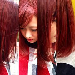 グラデーションカラー 暗髪 レイヤーカット ストリート ヘアスタイルや髪型の写真・画像