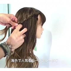 ヘアアレンジ 上品 外国人風 ロング ヘアスタイルや髪型の写真・画像