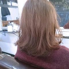 大人かわいい ピンク 大人女子 艶髪 ヘアスタイルや髪型の写真・画像