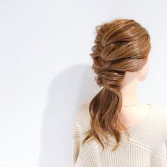 セミロング 簡単ヘアアレンジ 結婚式 ヘアアレンジ ヘアスタイルや髪型の写真・画像