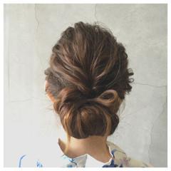 和装 夏 まとめ髪 アップスタイル ヘアスタイルや髪型の写真・画像