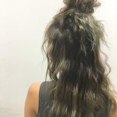 ヘアアレンジ 外国人風 ロング ハーフアップ ヘアスタイルや髪型の写真・画像