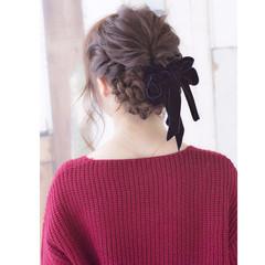 成人式 大人かわいい セミロング ヘアアレンジ ヘアスタイルや髪型の写真・画像
