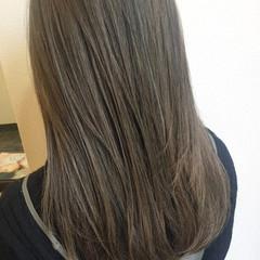 ヌーディベージュ 暗髪 ナチュラル セミロング ヘアスタイルや髪型の写真・画像