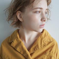 ショート アンニュイ パーマ くせ毛風 ヘアスタイルや髪型の写真・画像