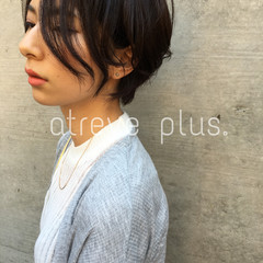 黒髪 ショート コンサバ 抜け感 ヘアスタイルや髪型の写真・画像