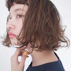 ボブ 簡単 パーマ ストリート ヘアスタイルや髪型の写真・画像
