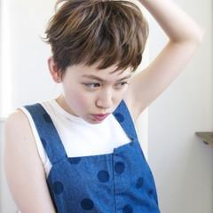 ナチュラル ショート 前髪あり ピュア ヘアスタイルや髪型の写真・画像