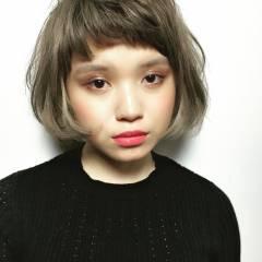 外国人風 ボブ 外国人風カラー ストリート ヘアスタイルや髪型の写真・画像