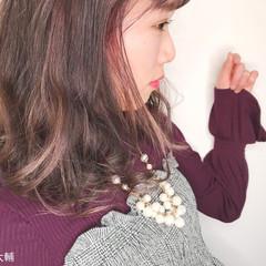 透明感 外国人風 外国人風カラー ラベンダーピンク ヘアスタイルや髪型の写真・画像