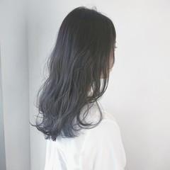ロング 暗髪 モード 透明感 ヘアスタイルや髪型の写真・画像