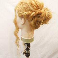 夏 フェミニン ヘアアレンジ ロング ヘアスタイルや髪型の写真・画像