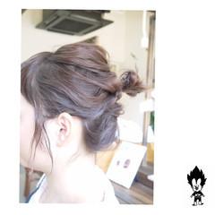 簡単ヘアアレンジ ショート ヘアアレンジ ナチュラル ヘアスタイルや髪型の写真・画像