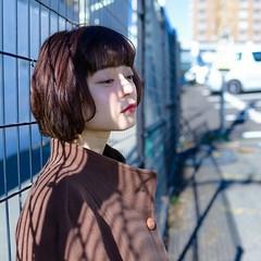 フェミニン ボブ ナチュラル ニュアンス ヘアスタイルや髪型の写真・画像