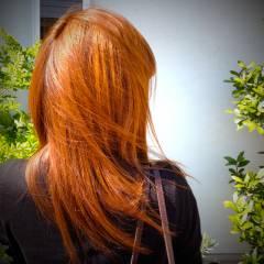 大人かわいい ストリート イエロー オレンジ ヘアスタイルや髪型の写真・画像