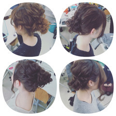 ミディアム ゆるふわ フェミニン ヘアアレンジ ヘアスタイルや髪型の写真・画像