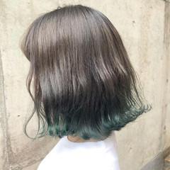 グラデーションカラー ボブ アッシュ ストリート ヘアスタイルや髪型の写真・画像