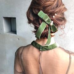 ミディアム 謝恩会 成人式 ヘアアレンジ ヘアスタイルや髪型の写真・画像