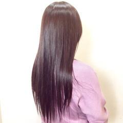 セミロング ピンク ピンクアッシュ フェミニン ヘアスタイルや髪型の写真・画像