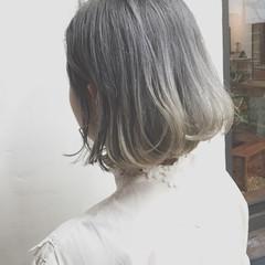 ボブ ストリート グラデーションカラー 外国人風 ヘアスタイルや髪型の写真・画像