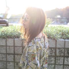 ストリート ラフ セミロング 大人女子 ヘアスタイルや髪型の写真・画像
