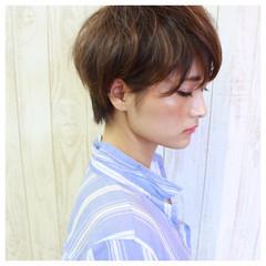 フェミニン グラデーションカラー ボブ モード ヘアスタイルや髪型の写真・画像