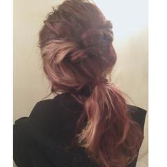 外国人風 金髪 ボルドー ショート ヘアスタイルや髪型の写真・画像