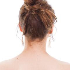 簡単ヘアアレンジ ヘアアレンジ 夏 お団子 ヘアスタイルや髪型の写真・画像