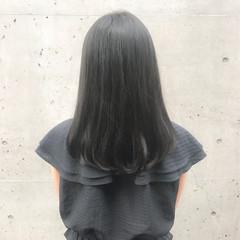 ミディアム 艶髪 ナチュラル デート ヘアスタイルや髪型の写真・画像