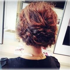 ヘアアレンジ ゆるふわ ミディアム コンサバ ヘアスタイルや髪型の写真・画像