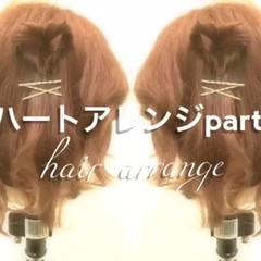 ハーフアップ ショート 簡単ヘアアレンジ ヘアアレンジ ヘアスタイルや髪型の写真・画像