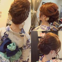 ヘアアレンジ ミディアム 着物 大人かわいい ヘアスタイルや髪型の写真・画像