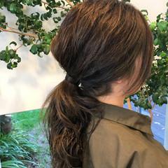 ナチュラル アンニュイ アッシュ ロング ヘアスタイルや髪型の写真・画像