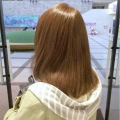 ゆるふわ フェミニン セミロング 秋 ヘアスタイルや髪型の写真・画像