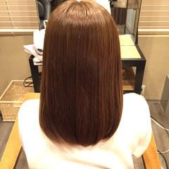 ナチュラル ストレート ミディアム 艶髪 ヘアスタイルや髪型の写真・画像