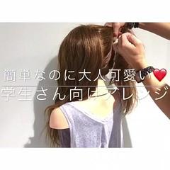 色気 ヘアアレンジ アウトドア 簡単ヘアアレンジ ヘアスタイルや髪型の写真・画像