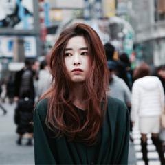 モード ハイライト アッシュ 暗髪 ヘアスタイルや髪型の写真・画像